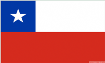 CHILE - 8 X 5 FLAG